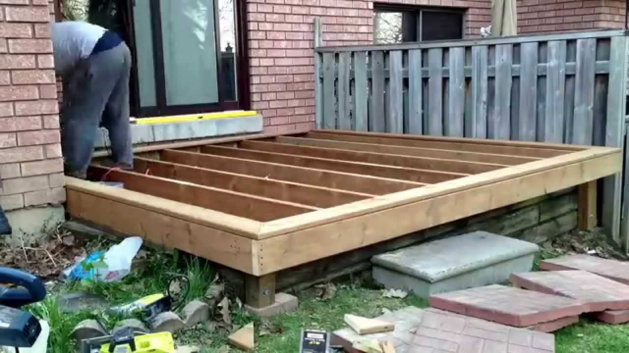 10 Diy Deck Build Timelapse Of My Son And I Building A Throughout Measurements