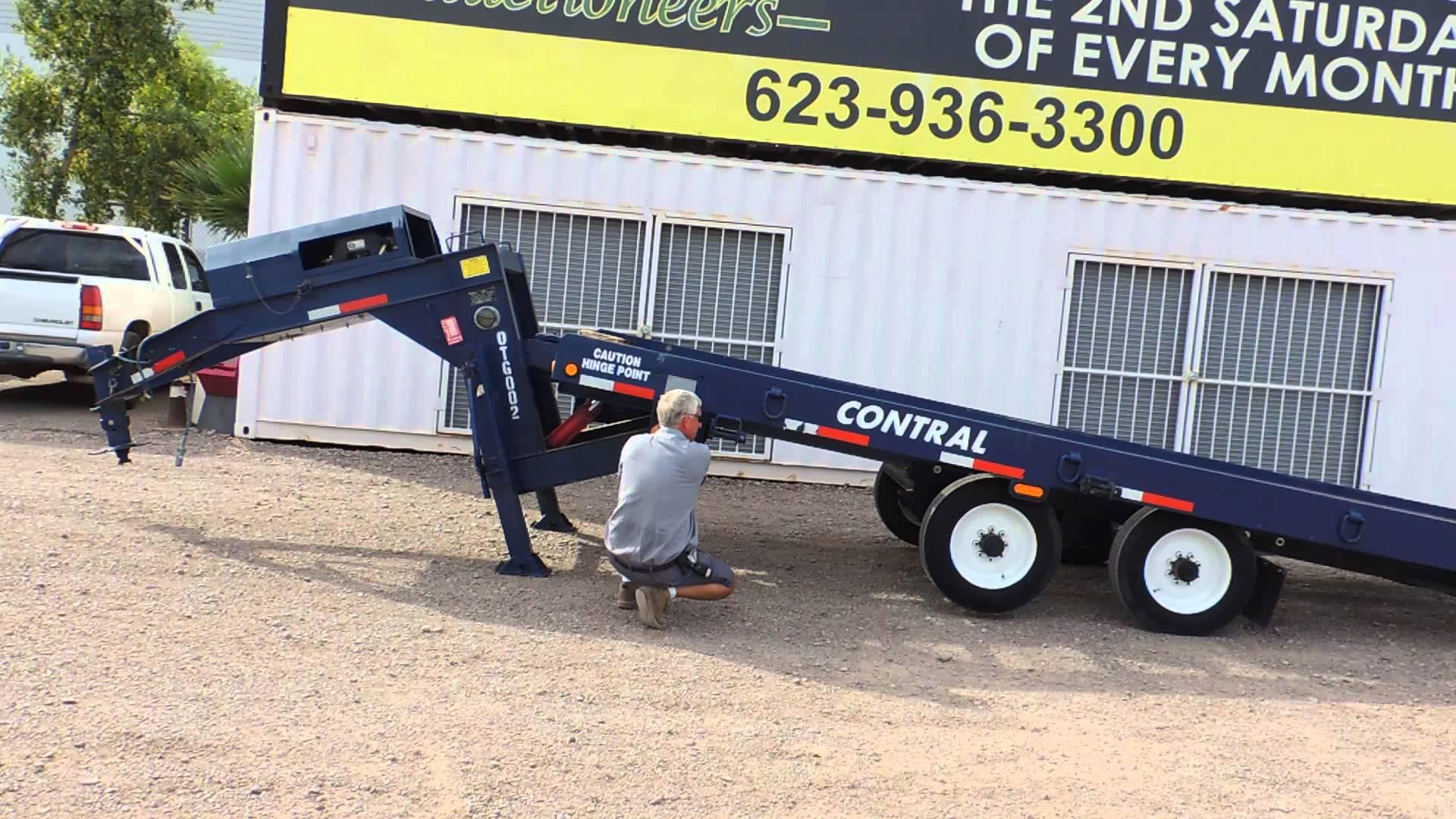 2012 Lucon 10t322cdu6 26 Gooseneck Hydraulic Tilt Trailer At Public with regard to size 1920 X 1080