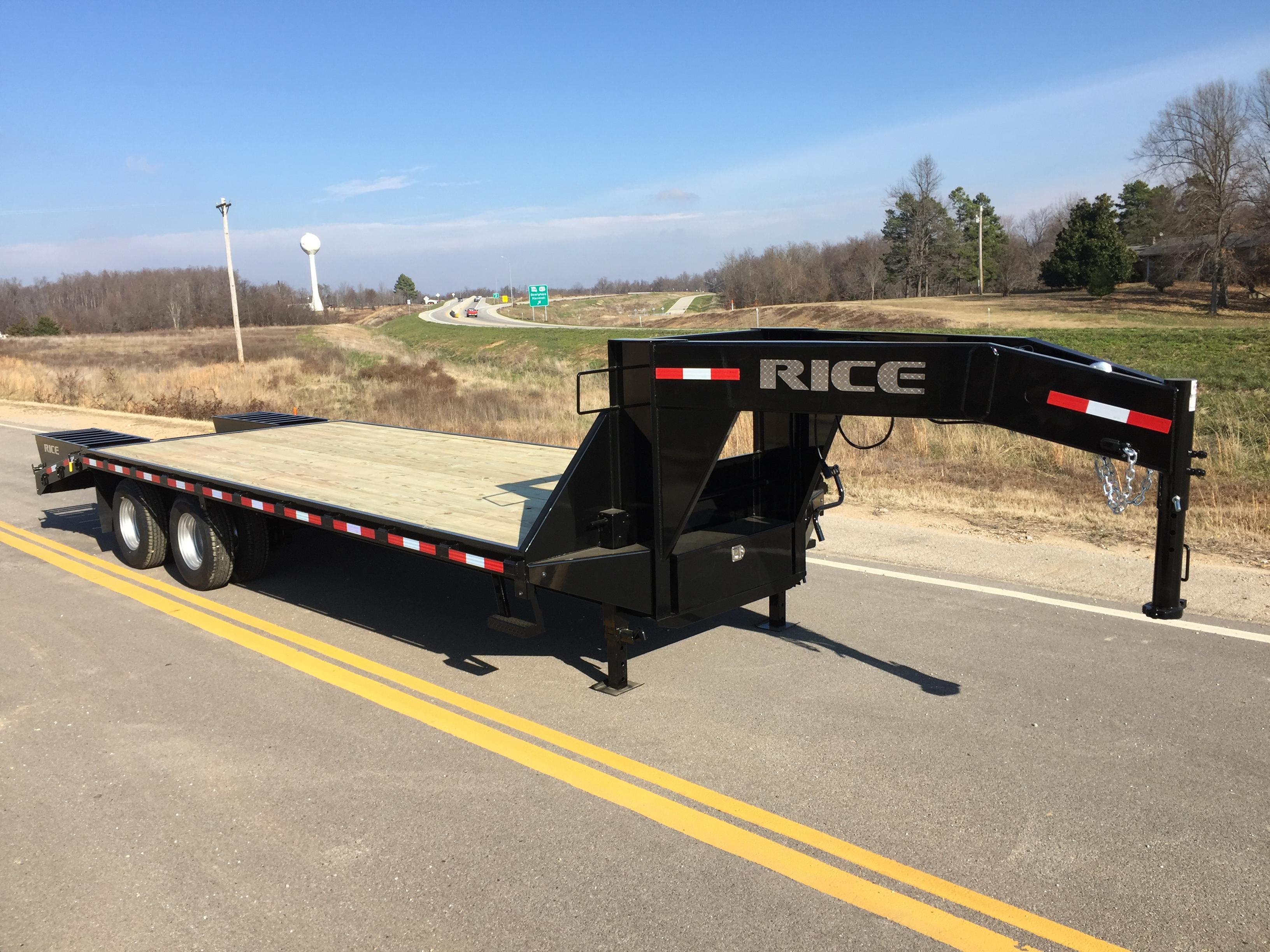 20k Deckover Gooseneck Bumper Pull Made In Usa Rice Trailers regarding sizing 3264 X 2448