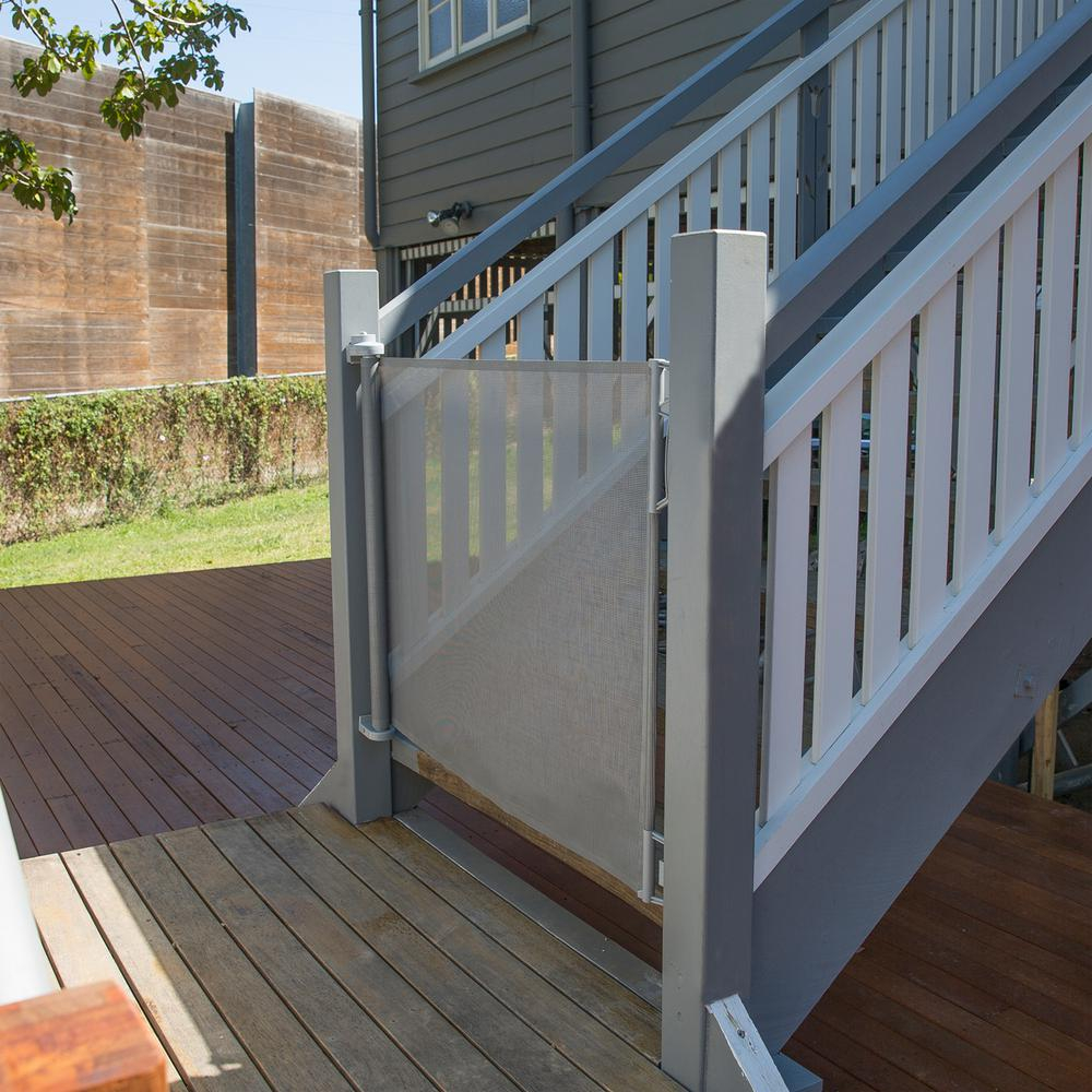 Retractable Pet Gate For Deck Decks Ideas