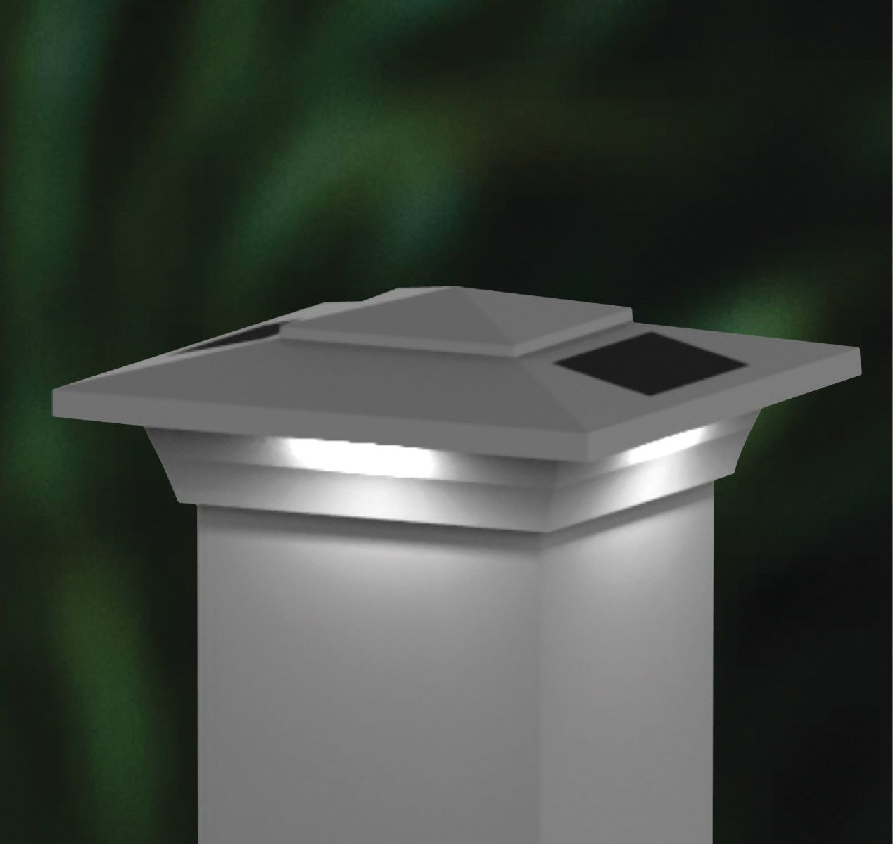 4x4 Solar Fence Post Cap Lights White Low Profile Windsor Set Of 2 regarding size 1269 X 1200