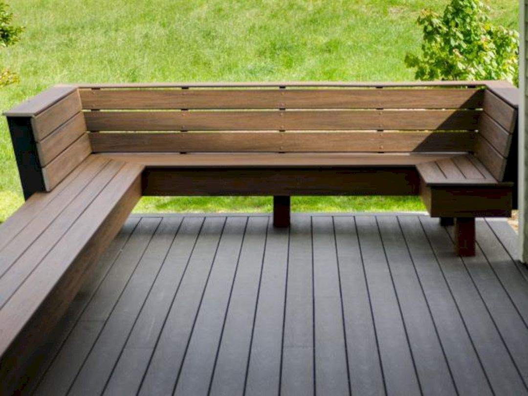 70 Best Deck Bench Seating Design Ideas For Your Backyard Decking pertaining to measurements 1080 X 810