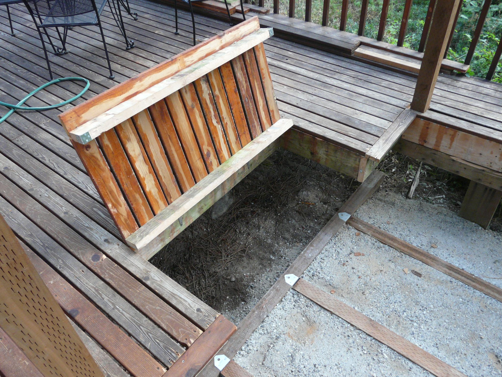 Hidden Hot Tub Under Deck Decks Ideas