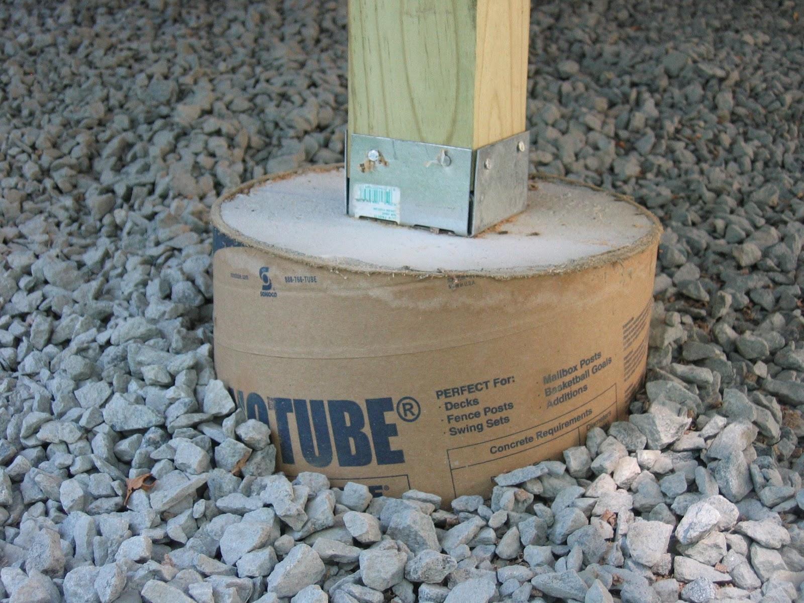 Pouring Concrete Footings For Deck • Decks Ideas