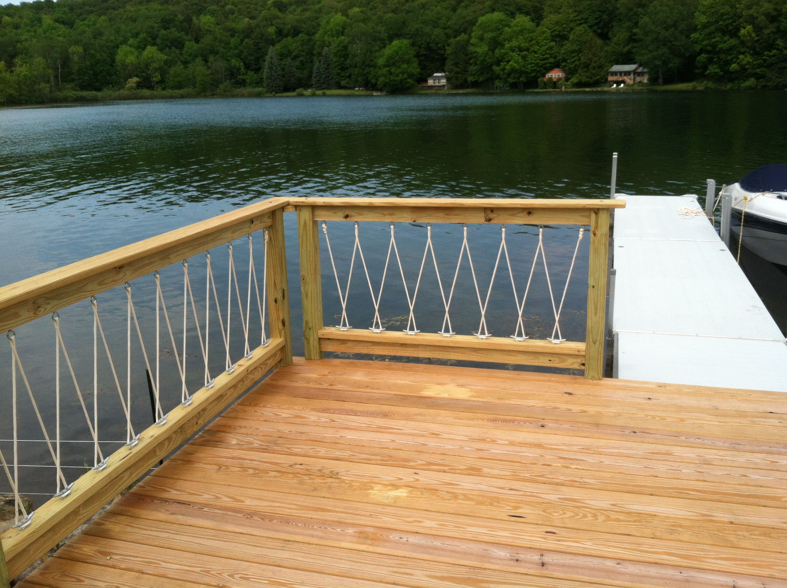 Nautical Rope Deck Railing • Decks Ideas on Nautical Patio Ideas id=14306