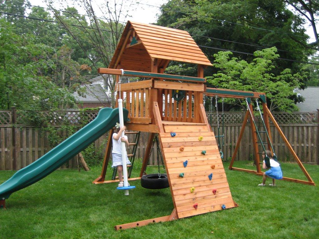 Under Deck Swing Set • Decks Ideas