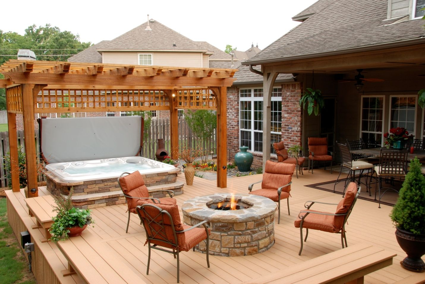 Bhotb Btubb Install With Stone Patio Deck Porch In Sizing 1430 X 957