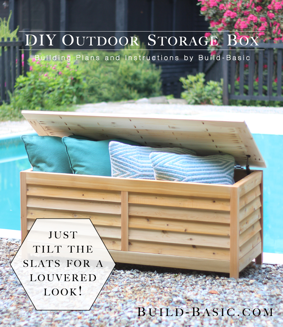 Build A Diy Outdoor Storage Box Build Basic within proportions 950 X 1100