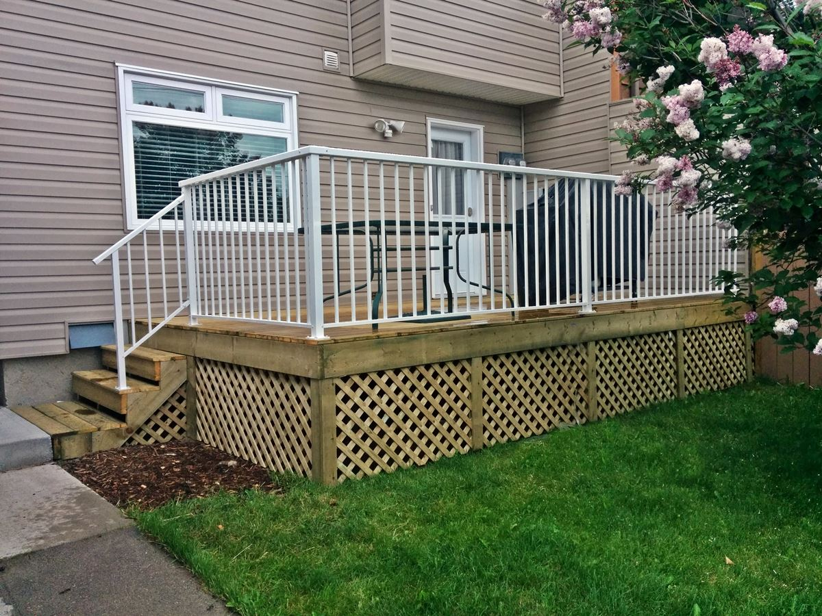 Calgary Fence Deck Inc Treated Deck W Enclosed Lattice Skirting pertaining to proportions 1200 X 900