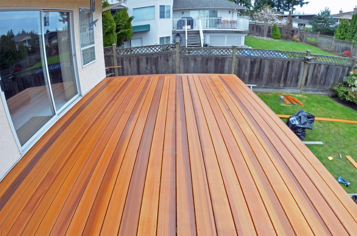 Cedar Decking Wood Decks Coquitlam inside sizing 1200 X 795