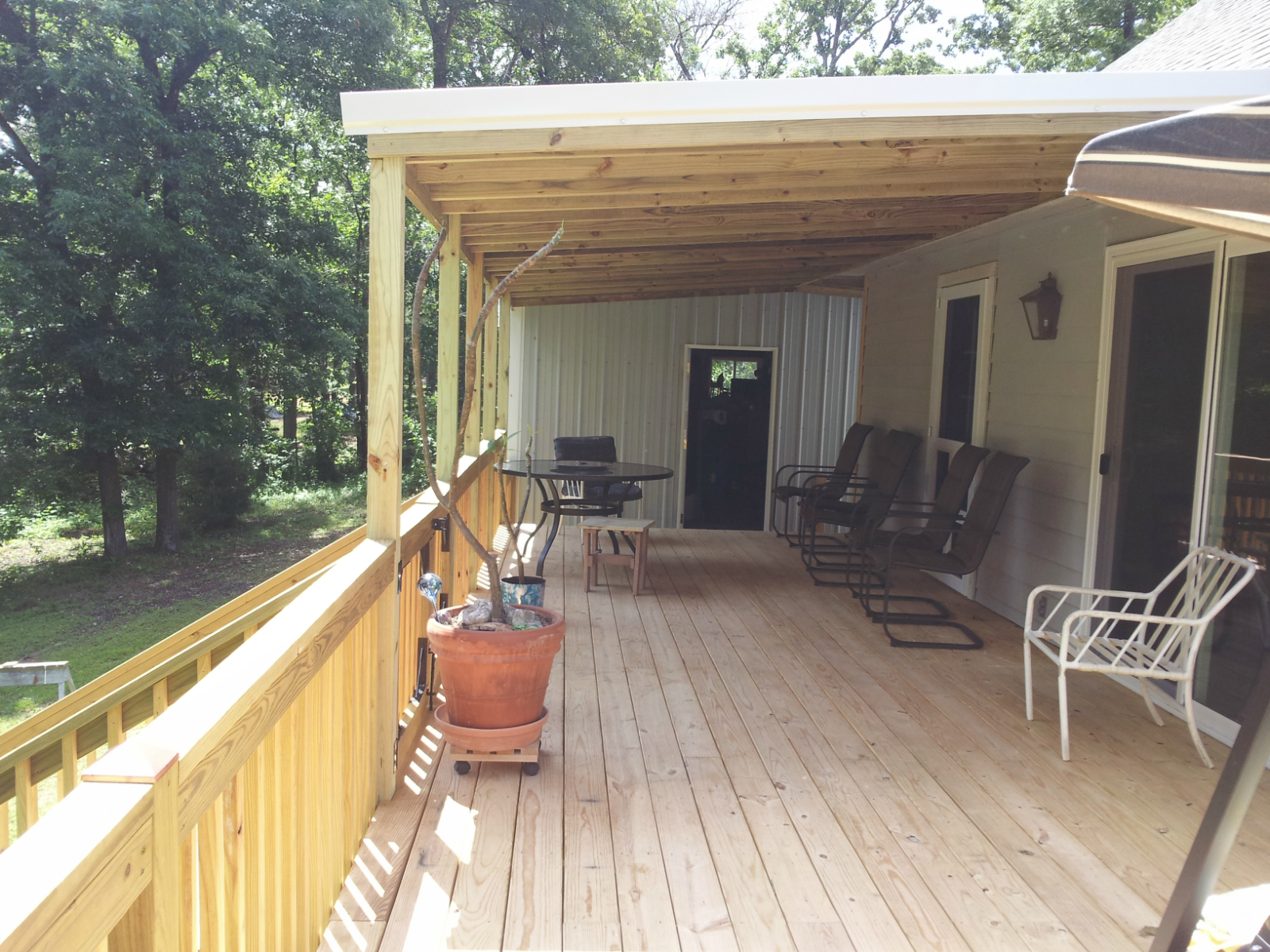 Client Requested A Gated Deck That Included A Roof Extension To in measurements 1600 X 1200