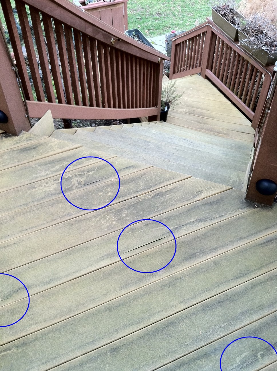 Composite Decking And Railings Clean Stain Seal Paint Problems throughout proportions 968 X 1296