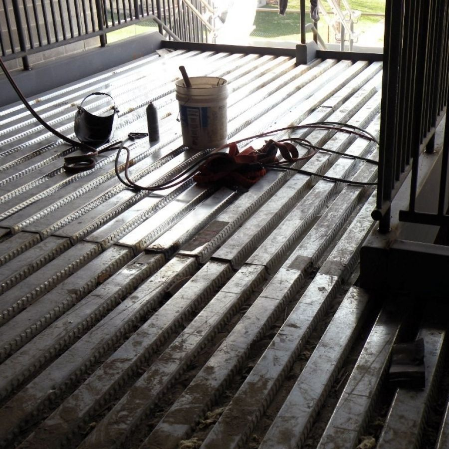 Corrugated Metal Decking For Concrete Decks Ideas