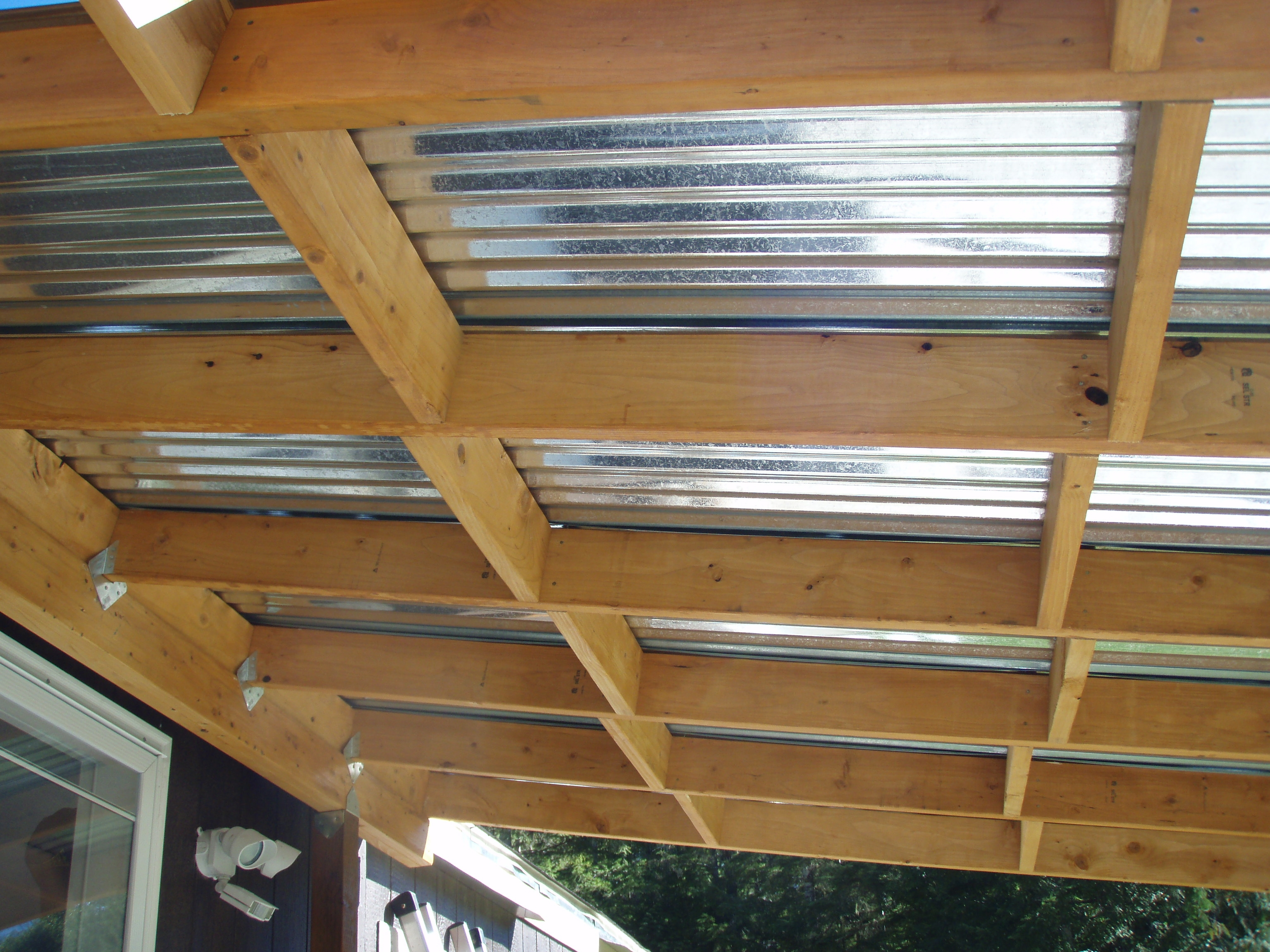 Metal Roofing Under Deck Decks Ideas
