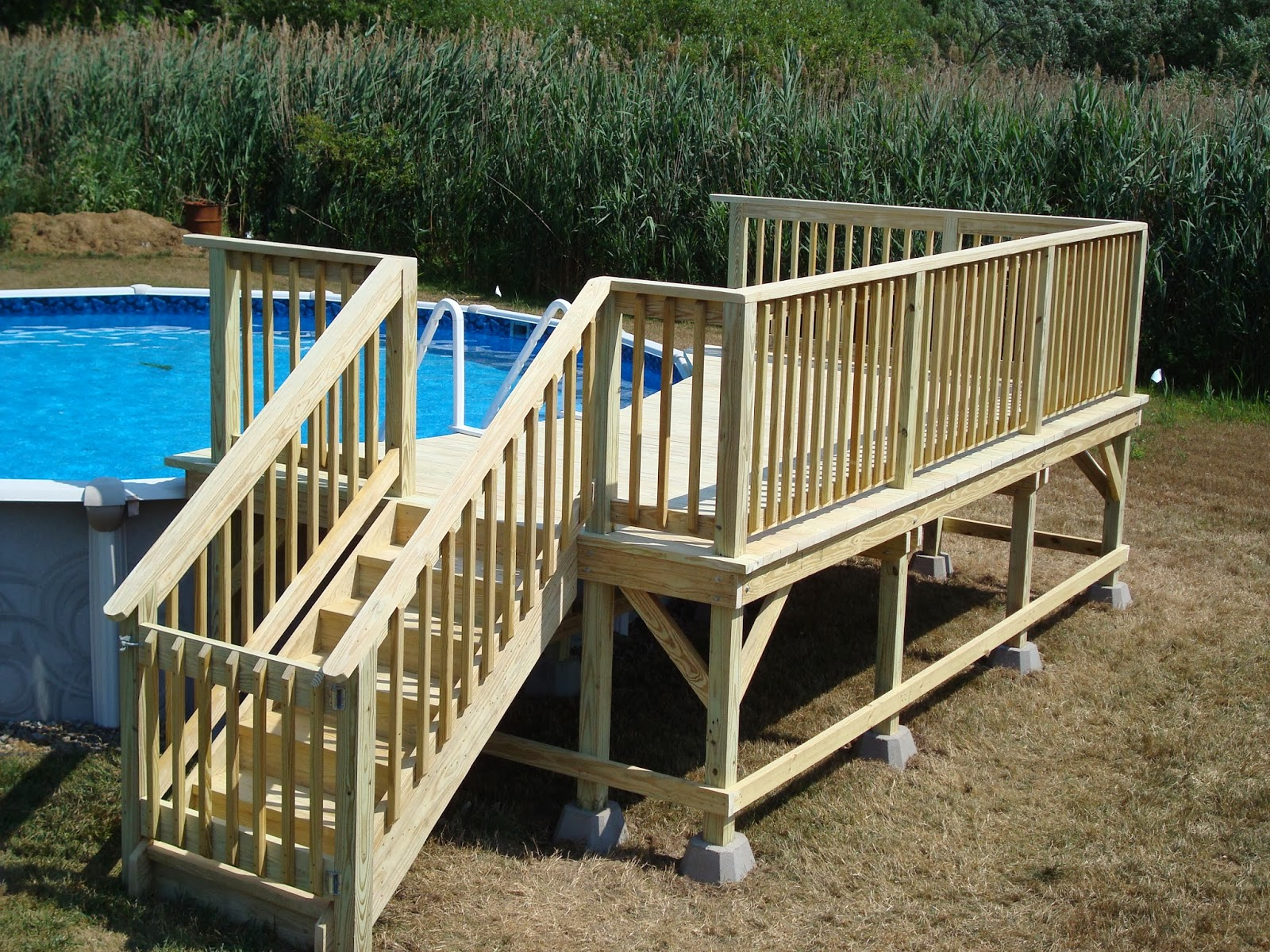 Free Standing Above Ground Swimming Pools: Free Standing Above Ground Pool Decks • Decks Ideas