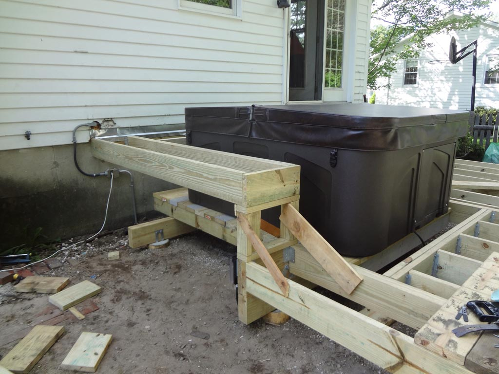 Support Hot Tub Wood Deck • Decks Ideas