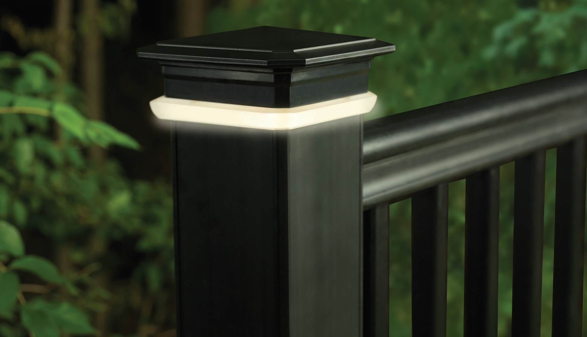 Deck Rail Lighting Led Deck Lights Timbertech inside sizing 1964 X 1128
