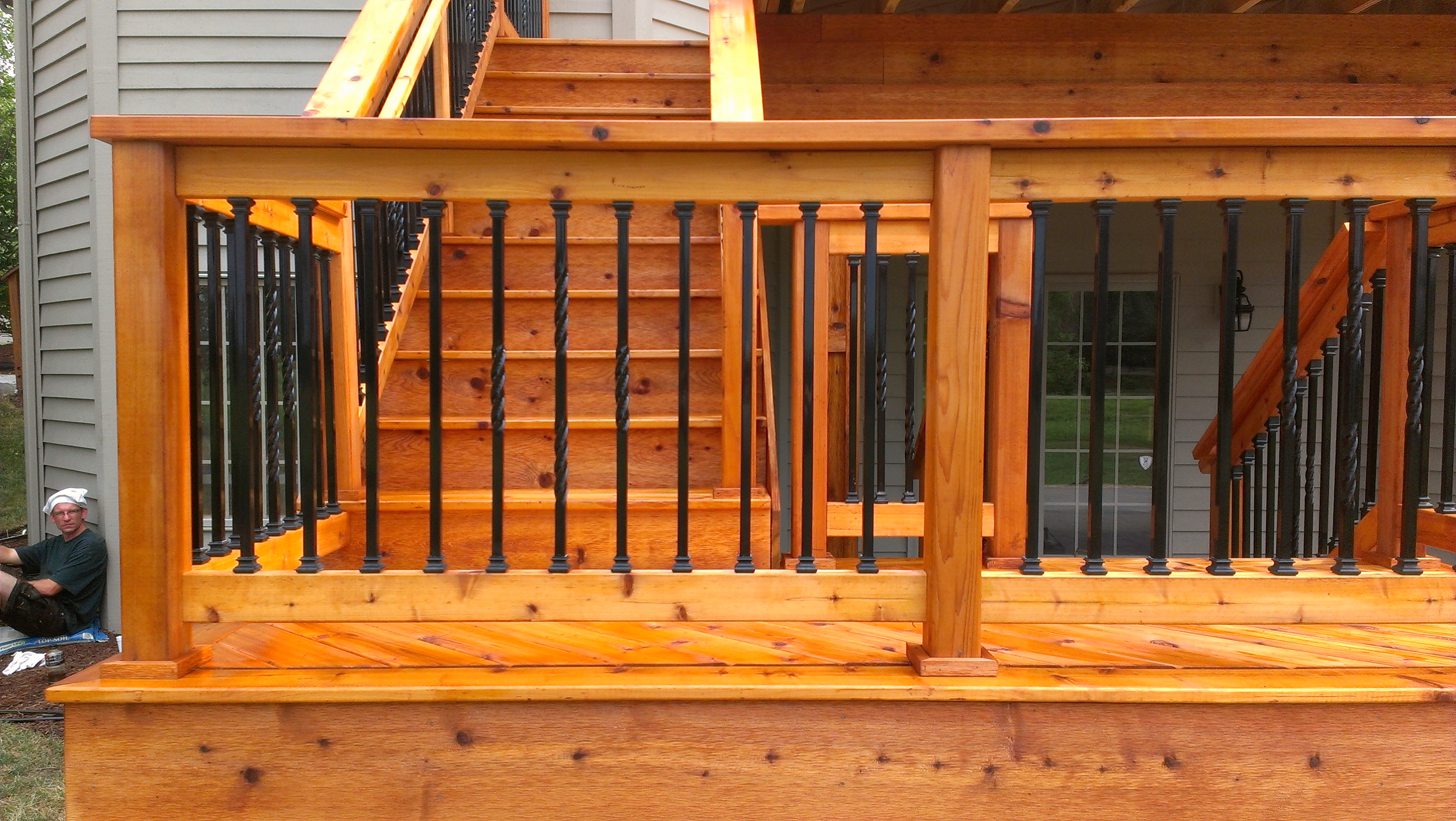 Deck Railings Railing Systems Wood Composite Metal Throughout Sizing 3264 X 1840