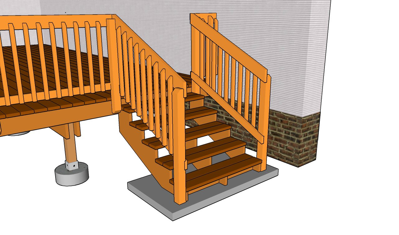 deck stair railing pics decks ideas