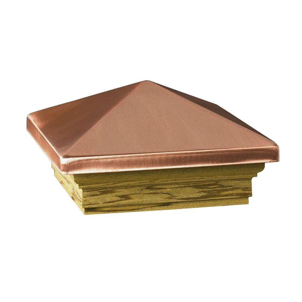 Deckorail Verona 6 In X 6 In Copper High Point Pyramid Post Cap for size 1000 X 1000