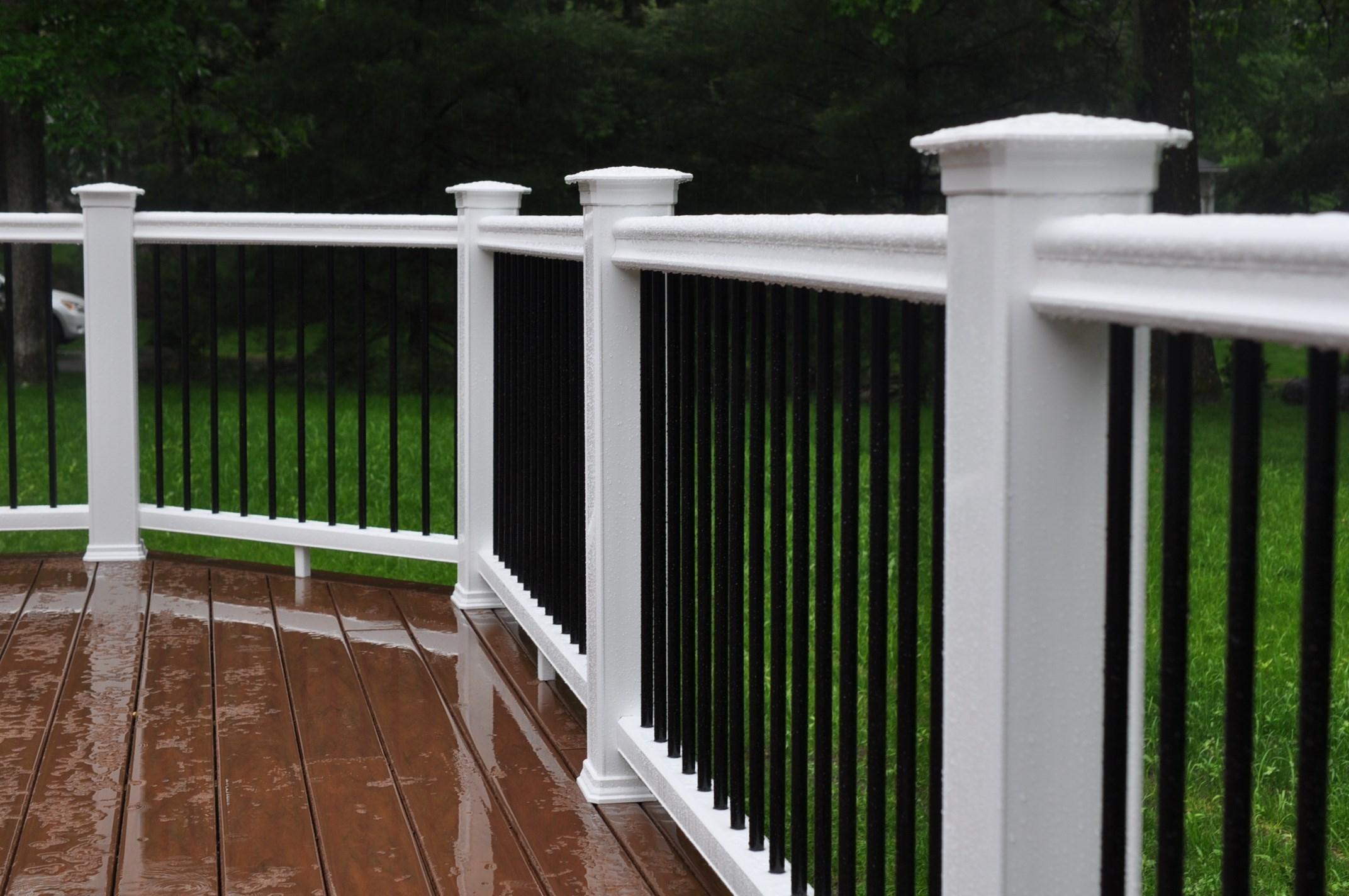 Decks Composite Deck Rails throughout proportions 2144 X 1424
