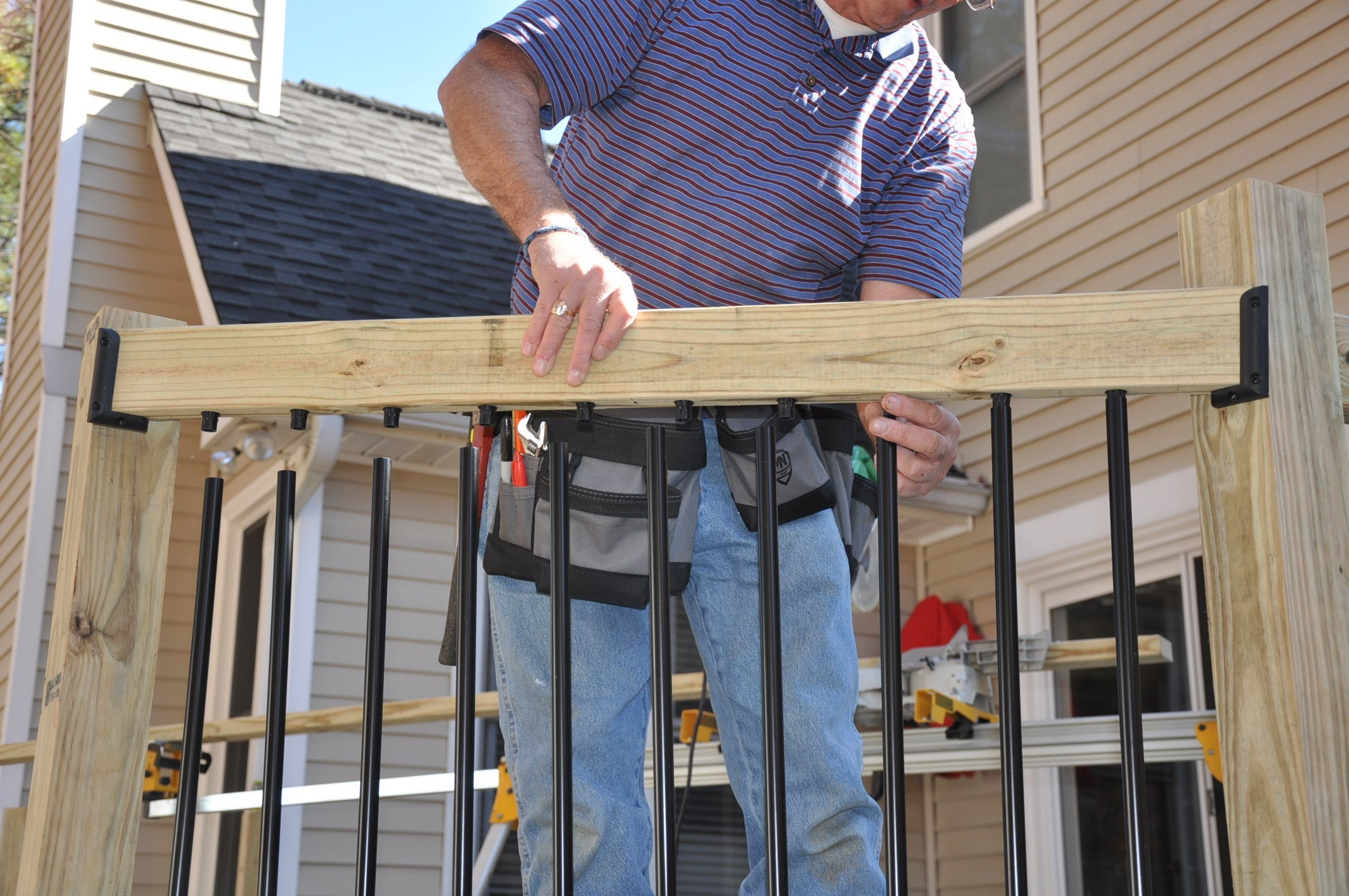 Decks Deck Railing Balusters throughout proportions 2144 X 1424