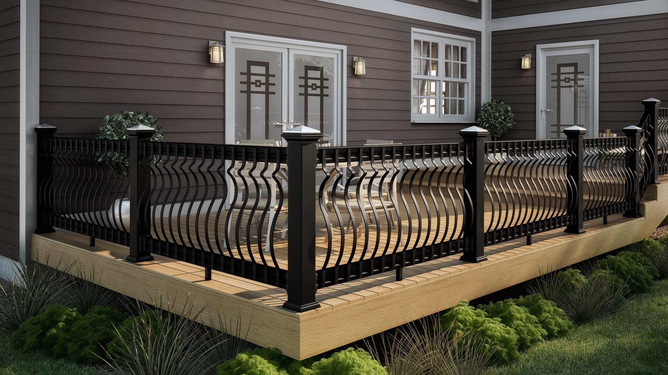 Black Rod Iron Deck Railing Decks Ideas