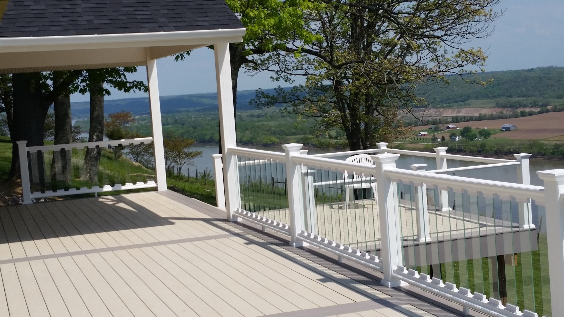 Decks Glass Deck Railings within proportions 2200 X 1238