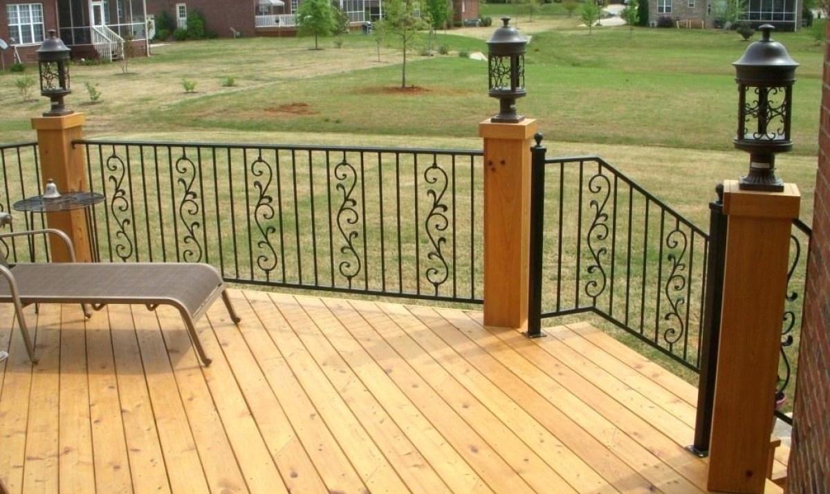 Decorative Wood Post Decks Wooden Thing regarding