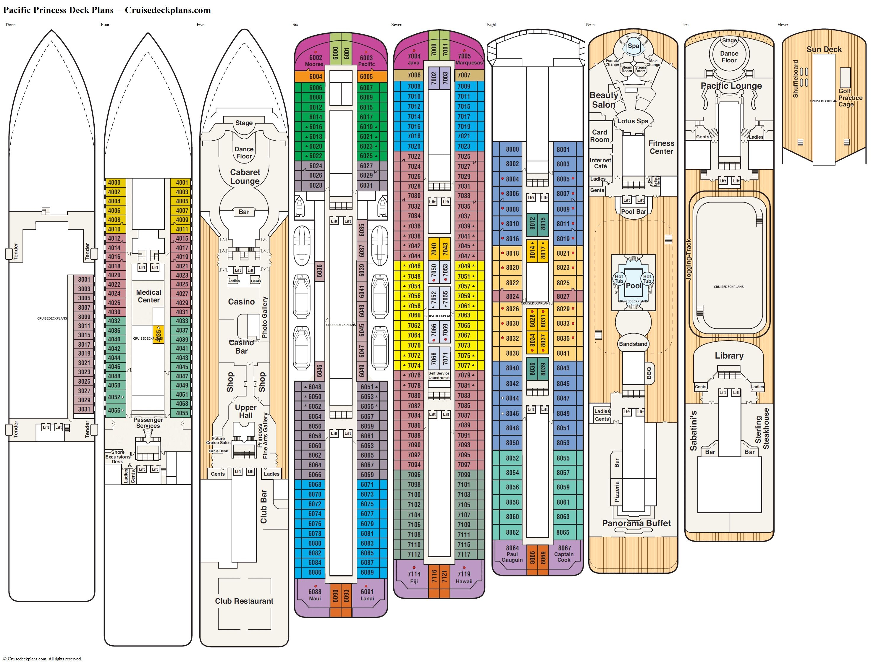 Diamond Princess Cruise Ships Deck Plans Httpgrgdavenport with dimensions 2962 X 2253