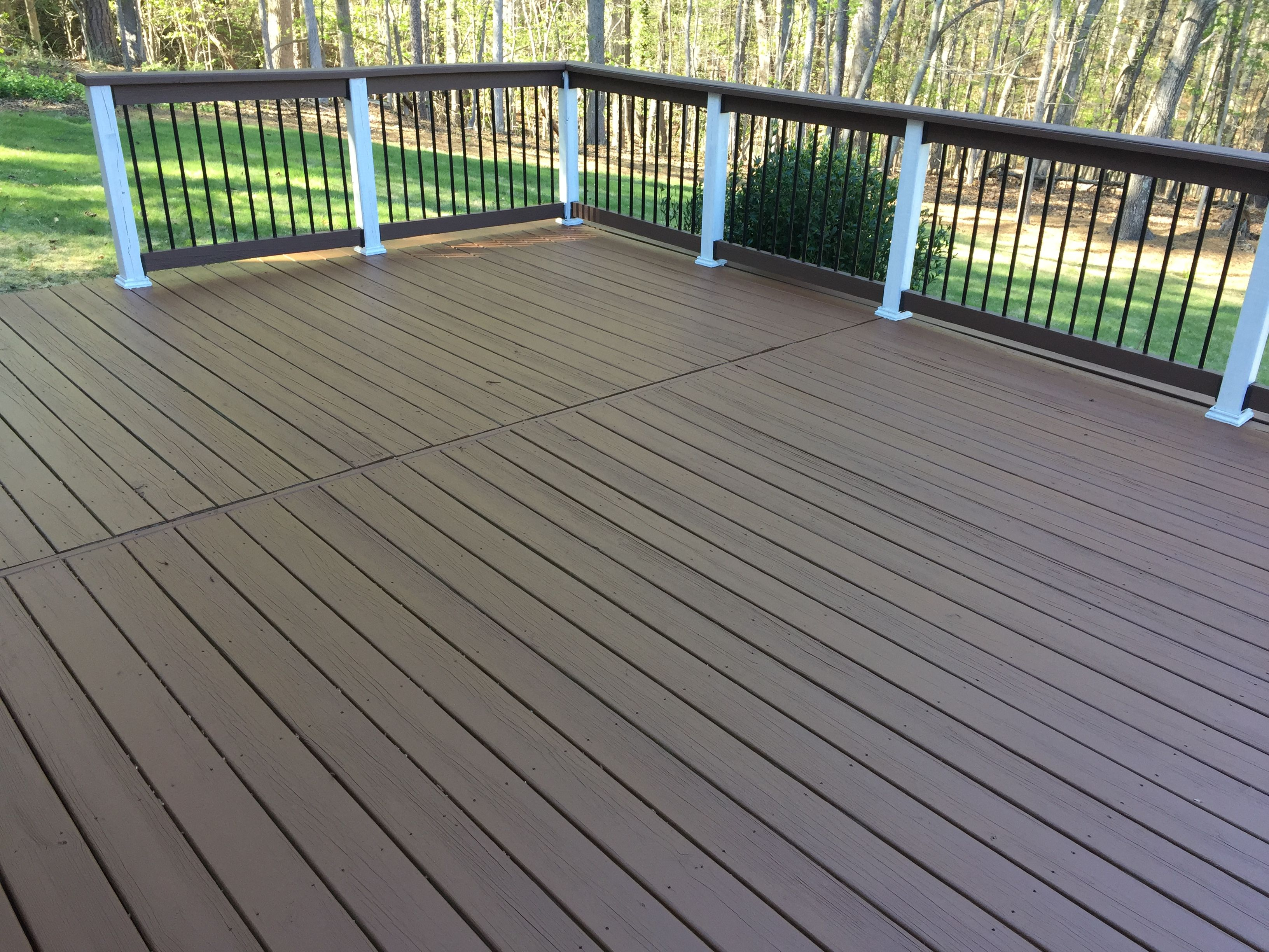 Did The Deck Today And Love The Double Shade Deck Paint Colors Behr for dimensions 3264 X 2448