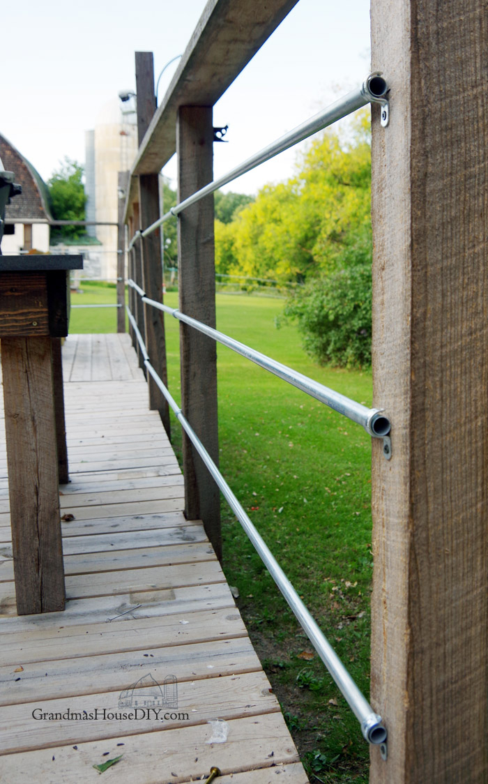 Diy Inexpensive Deck Rails Out Of Steel Conduit Easy To Do regarding proportions 700 X 1124