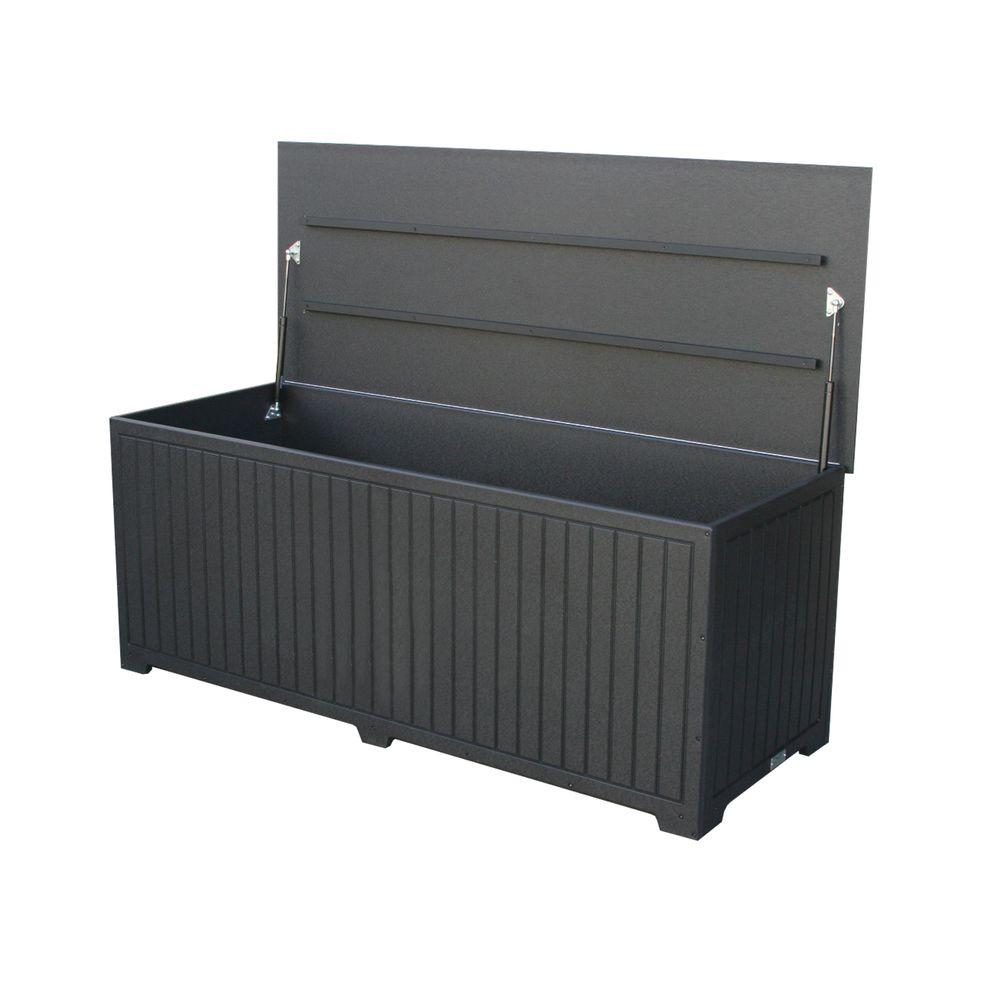 Eagle One Sydney 110 Gal Extra Large Black Recycled Plastic throughout measurements 1000 X 1000
