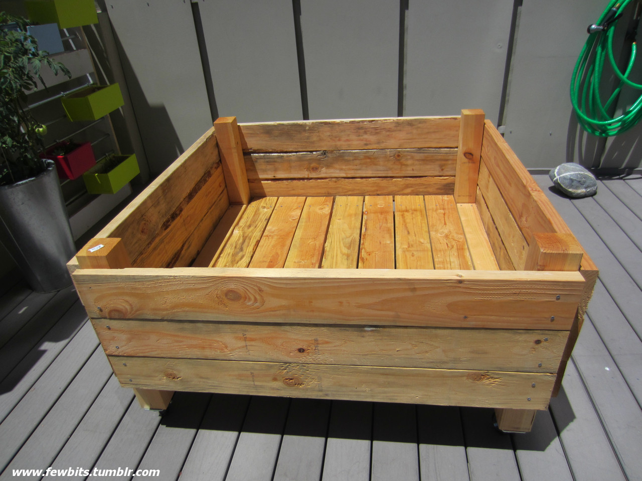 Easy Raised Garden Bed On Casters For Patio Or Deck for sizing 1280 X 960