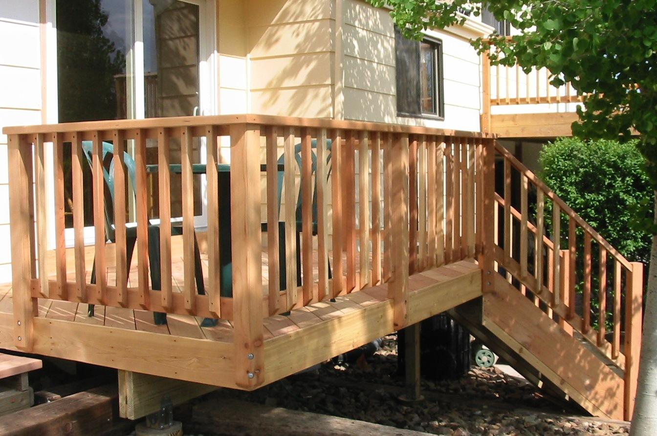Wooden Decking Banister • Decks Ideas