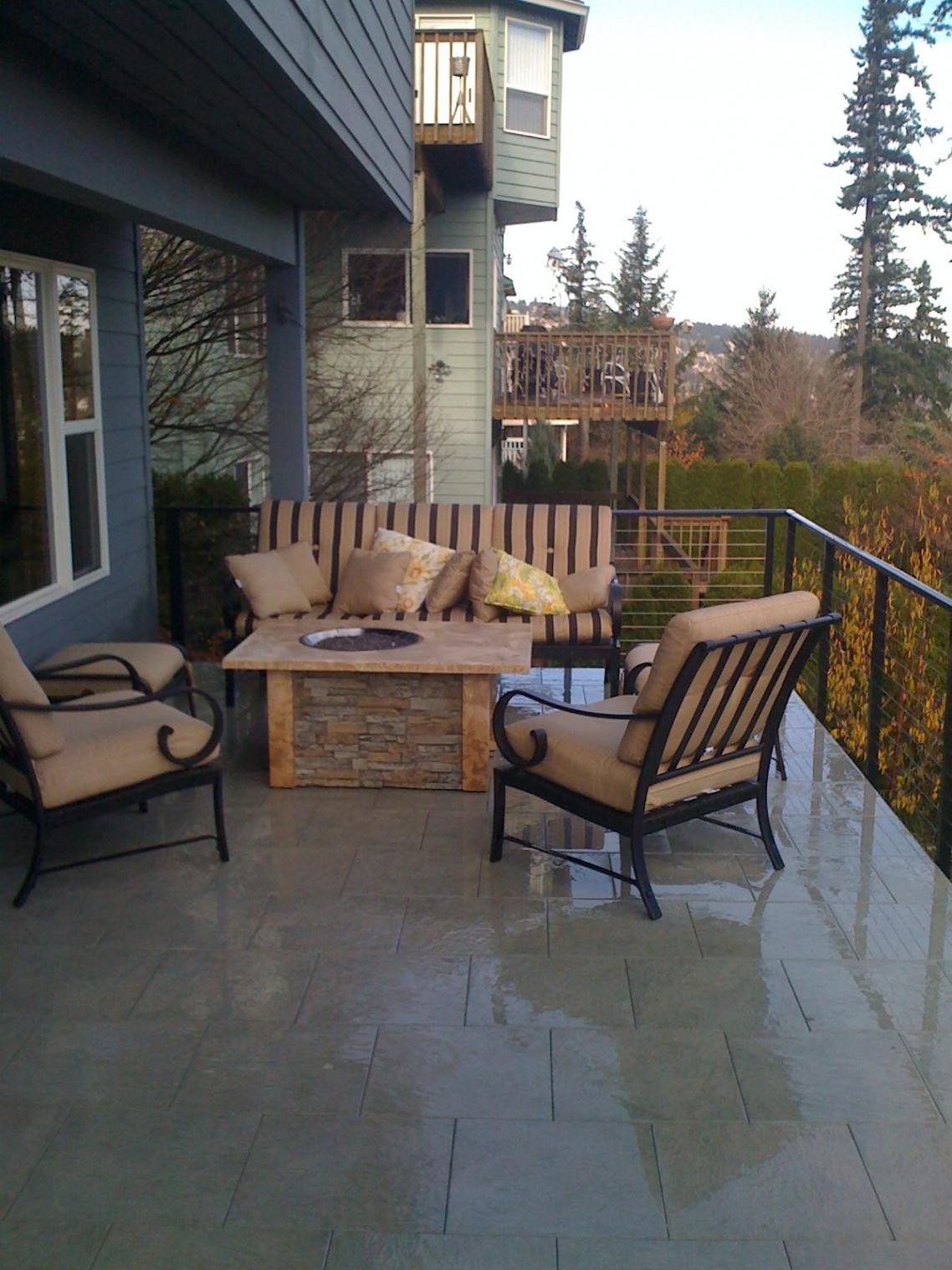 Firepit Or Chiminea On Elevated Deck Methods Decks Fencing within proportions 1138 X 1518