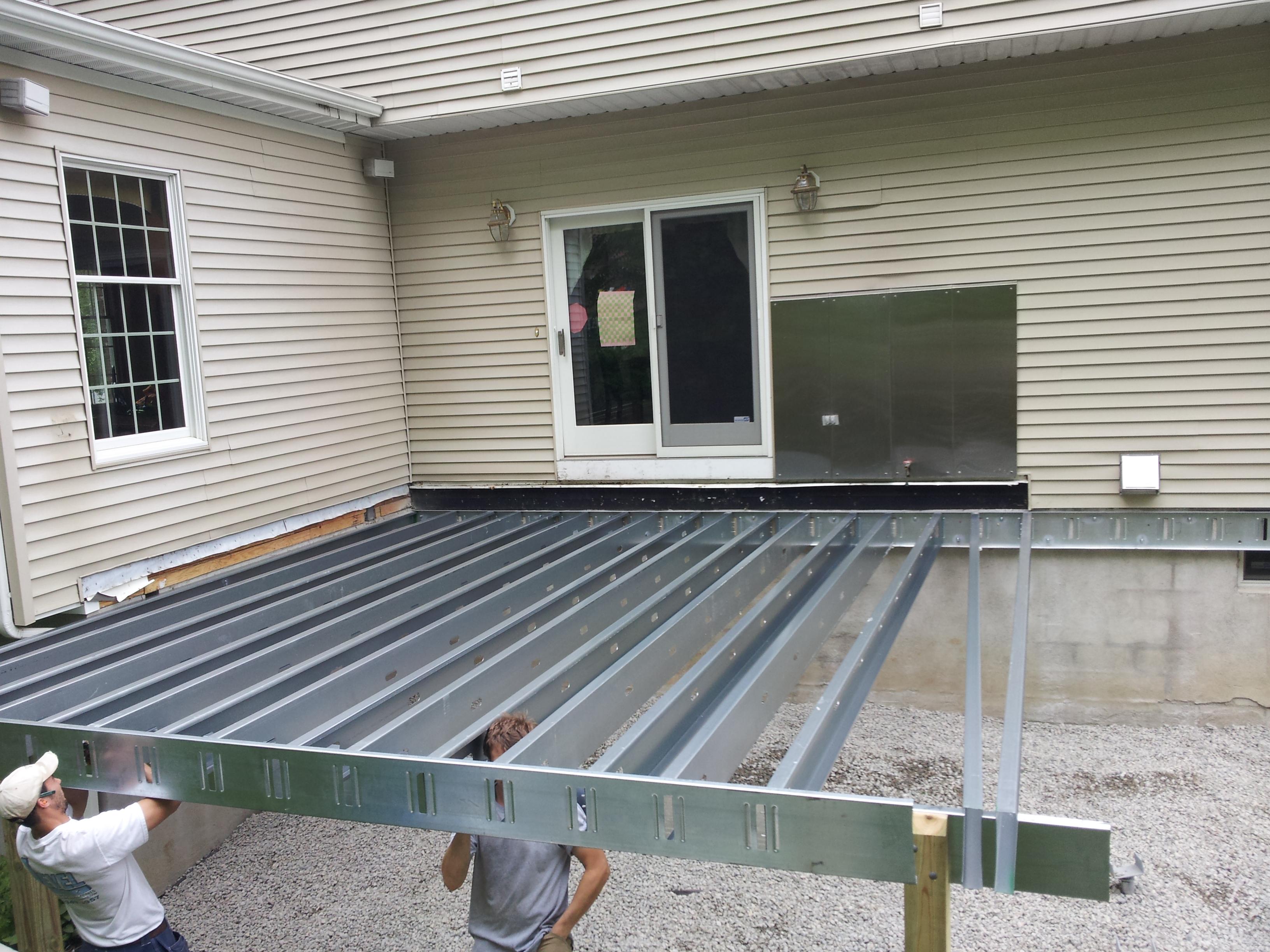 Galvanized Steel Deck Joists Decks Ideas