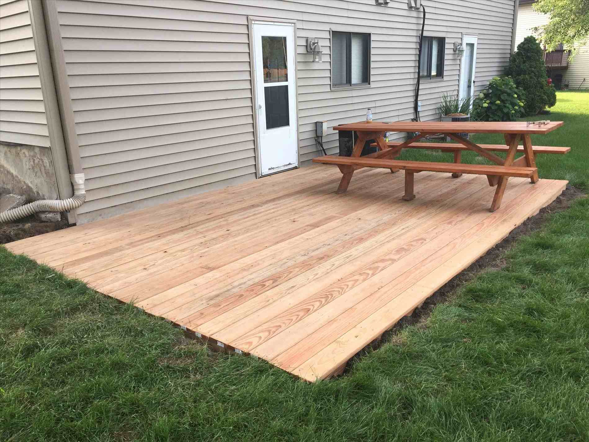 ground level deck without footings • decks ideas