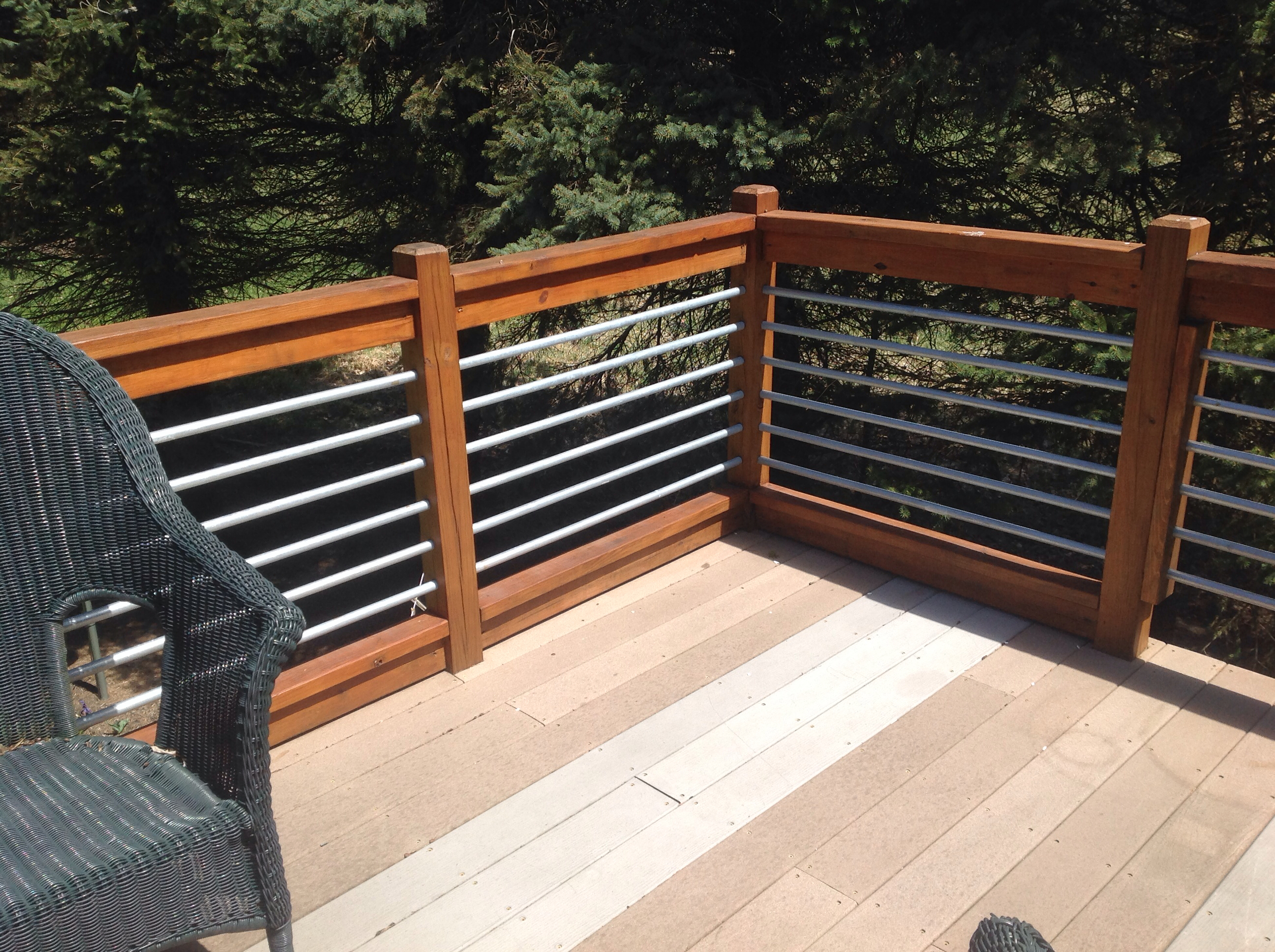 Horizontal deck railing wood patio decks designs pictures patio with sizing 2592 x 1936
