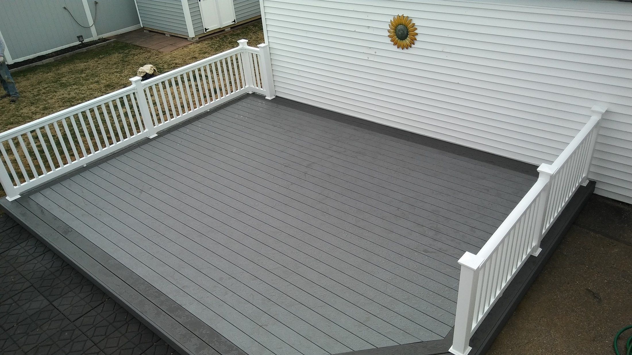 Image Result For Trex Select Winchester Grey Vs Pebble Grey Deck within sizing 2200 X 1238