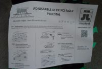 Jouplast Plastic Adjustable Decking Risers Varying Sizes In within dimensions 1024 X 768