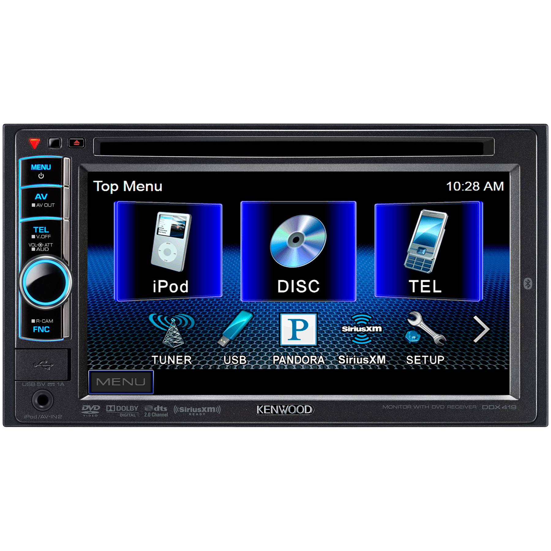 Kenwood Ddx419 61 Touchscreen Dvd Car Stereo Receiver in size 1800 X 1800