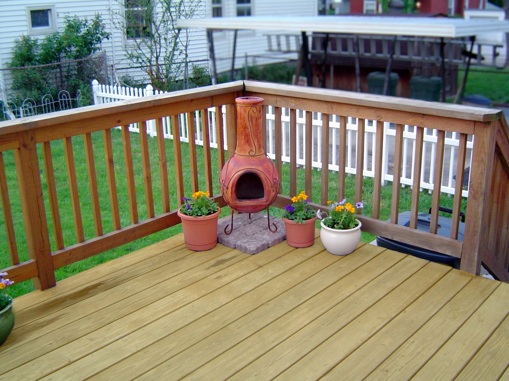 Mesmerizing Can You Use A Chiminea On Wood Deck In Our New Inside Size 1632
