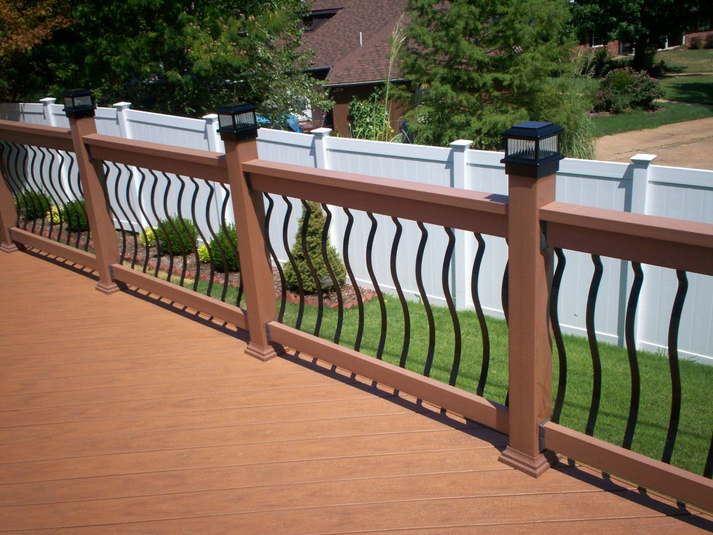 Metal Deck Railing Spindles New Decoration Metal Deck Railing within dimensions 1024 X 768