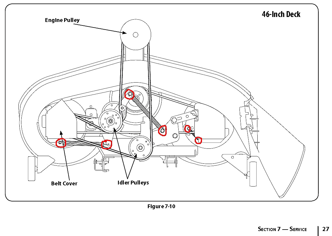 Murray 46 Inch Deck Belt Diagram