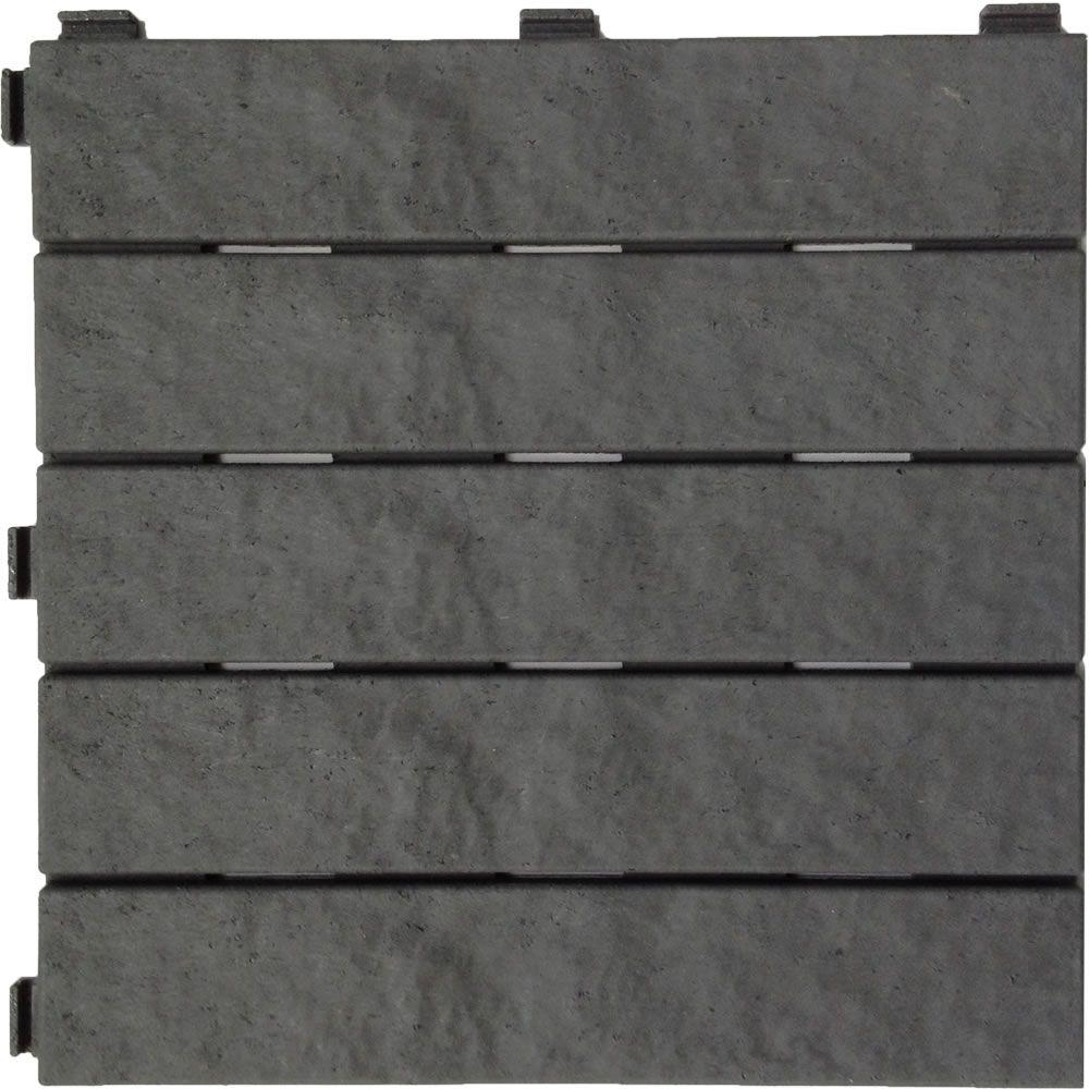 Multy Home 12 In X Rubber Slate Deck Tile 6 Pack Mt5100012 Pertaining To