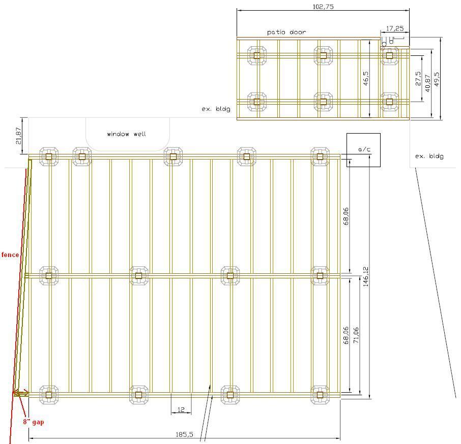 Free Building Plan For A Transitional Backyard Deck: 12x16 Floating Deck Plans • Decks Ideas