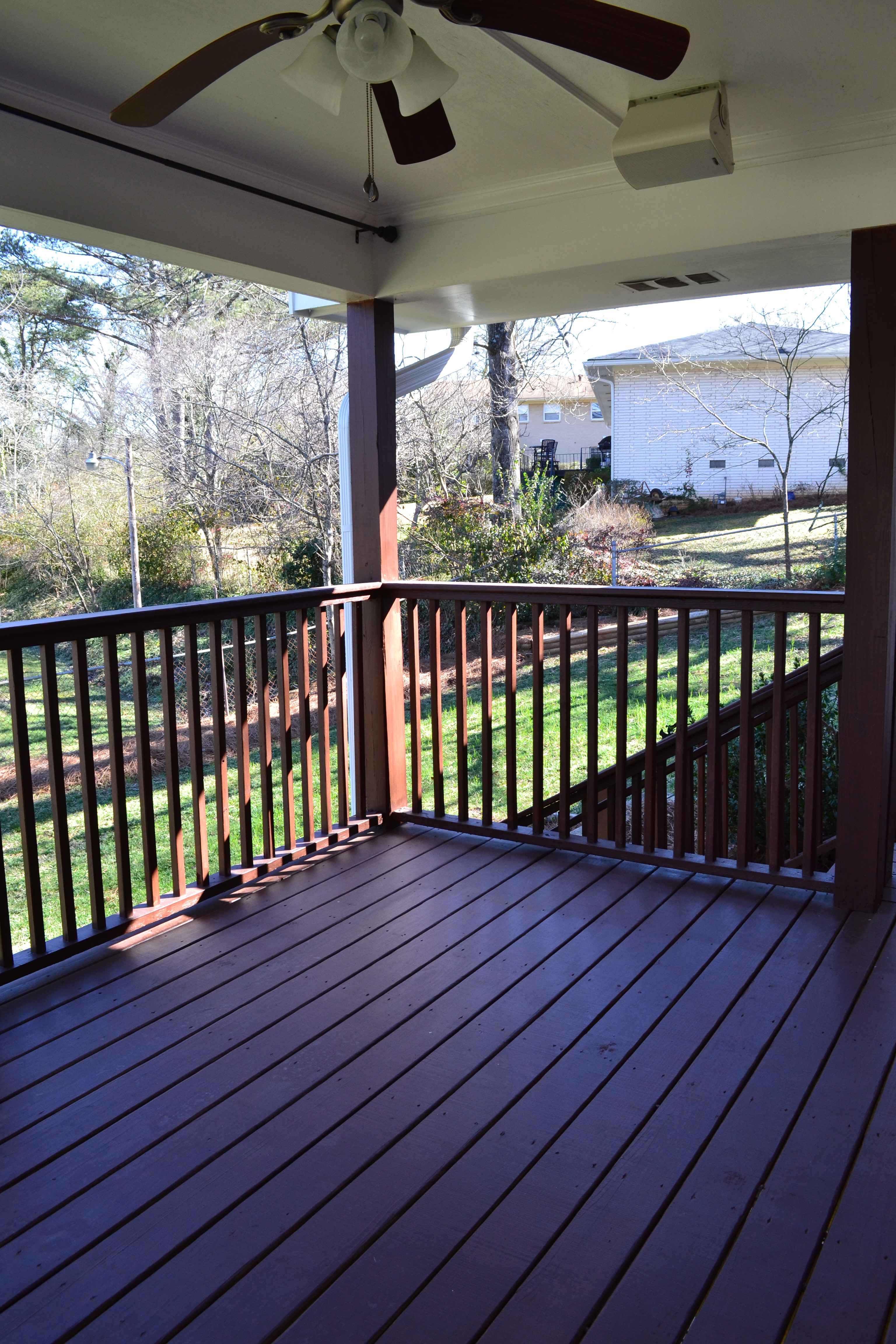 Etonnant New Covered Deck With Ceiling Fan And Outdoor Speakers Vision Pertaining To  Size 3072 X 4608
