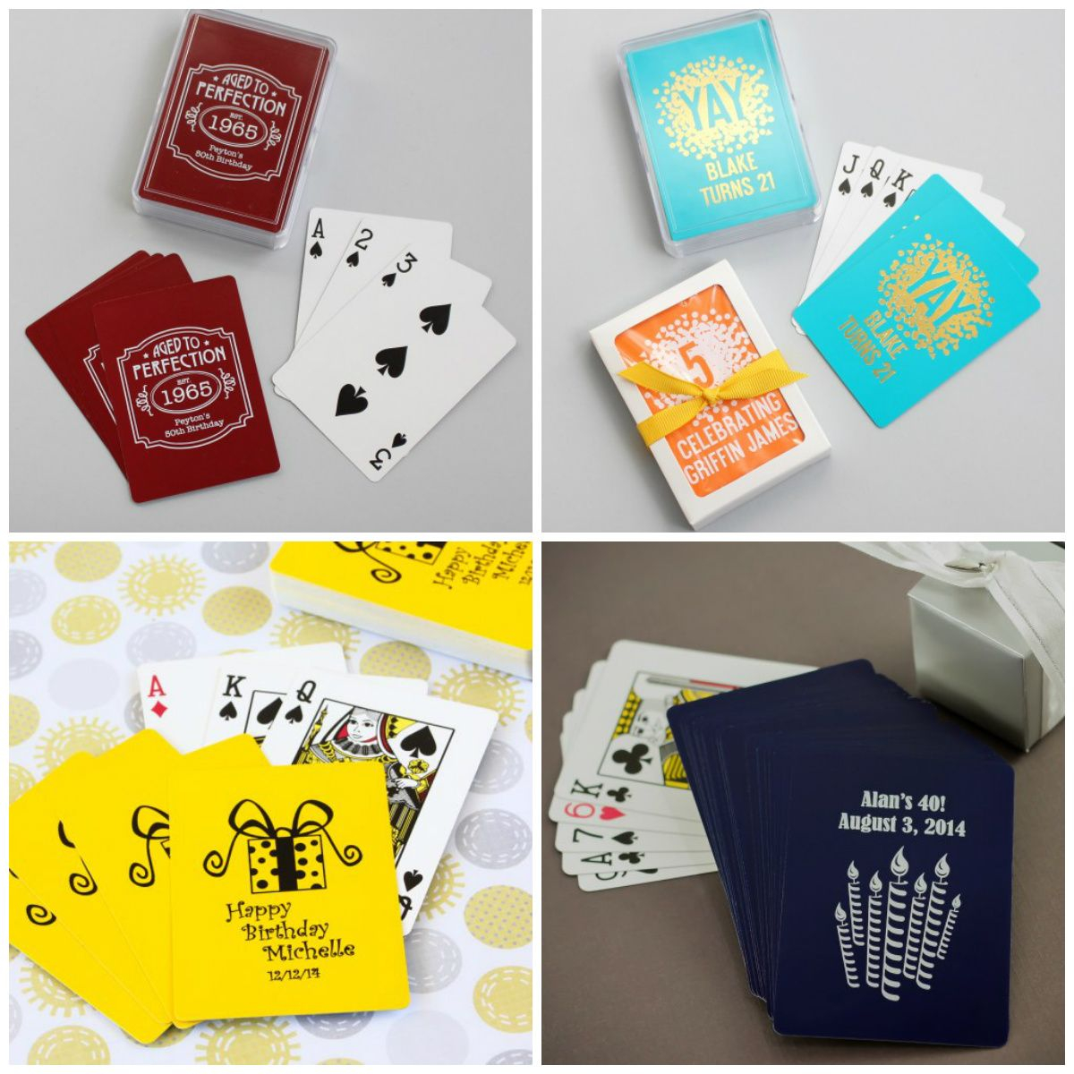 Personalized Playing Card Birthday Party Favors Throughout Measurements 1200 X