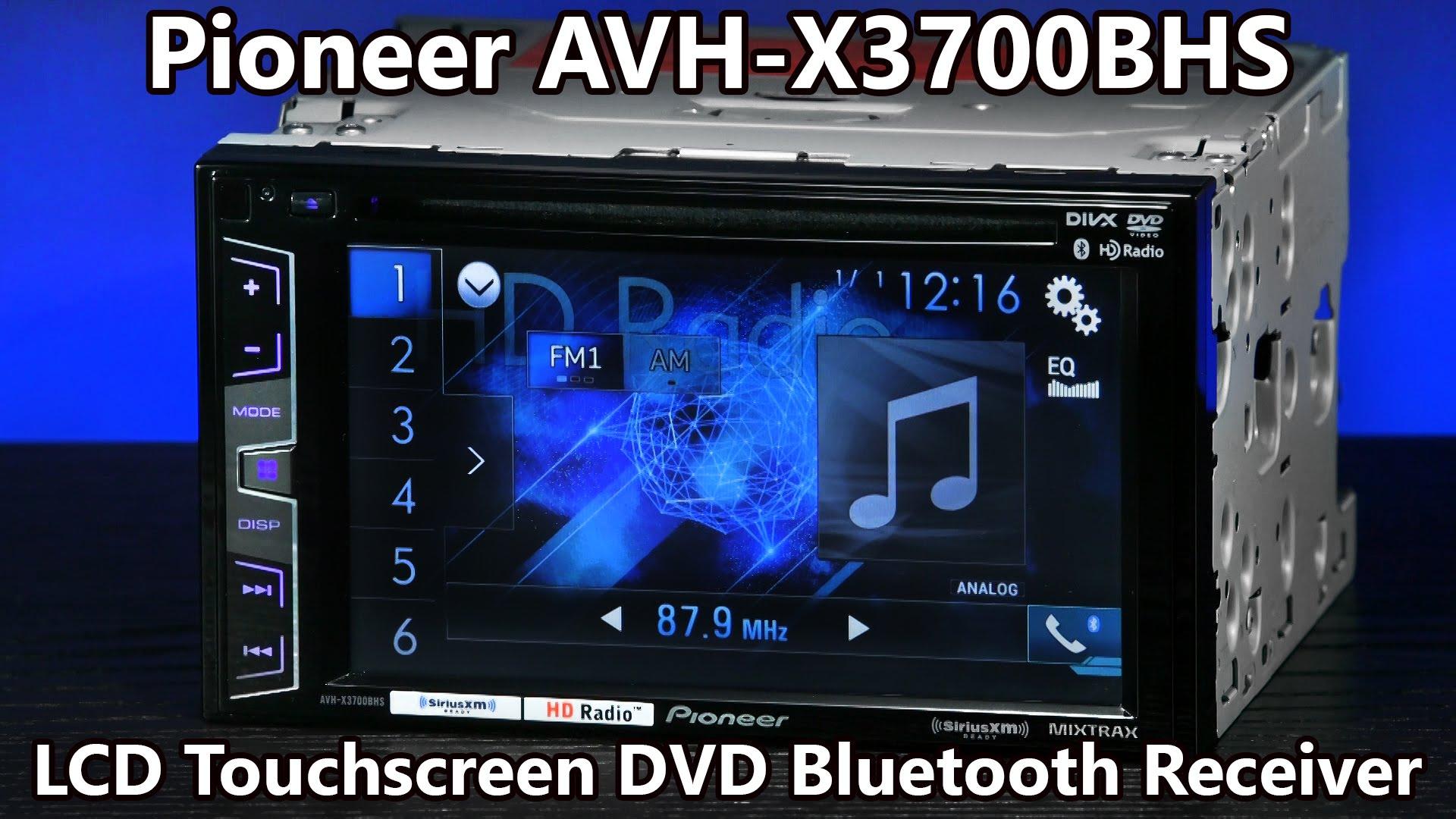 Pioneer Avh X3700bhs Double Din Bluetooth Dvd Radio 62 inside size 1920 X 1080
